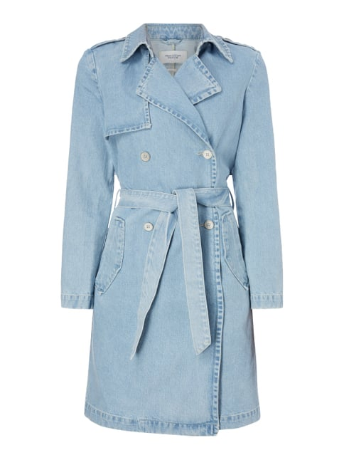 Trenchcoat aus Denim Blau / Türkis - 1