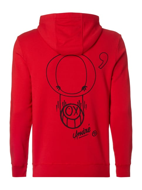 Marc O'Polo Hoodie mit Print Rot - 1