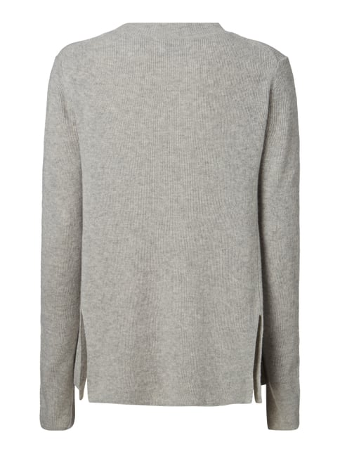 Marc O'Polo Pullover aus Rippstrick Silber meliert - 1