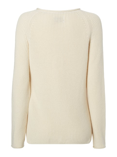 Marc O'Polo Pullover im Rippenstrick Offwhite - 1