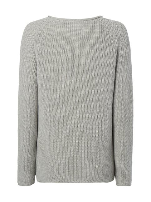Marc O'Polo Pullover im Rippenstrick Silber meliert - 1
