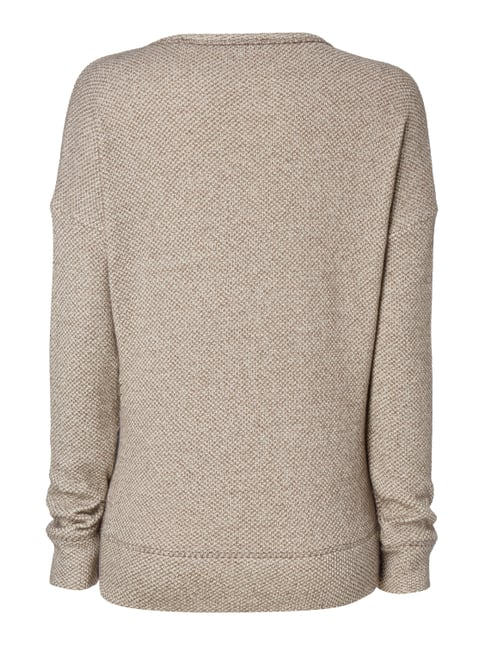 Marc O'Polo Pullover in Melangeoptik Taupe - 1