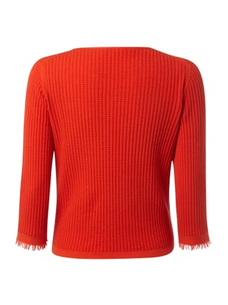 Marc O'Polo Pure Strickpullover mit Rippenstruktur Rot - 1