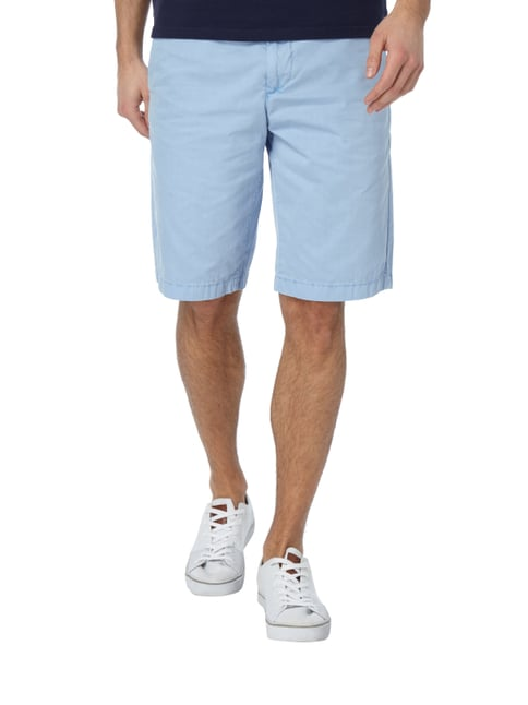 Marc O'Polo Regular Fit Chinobermudas aus Baumwolle Ozean Blau - 1