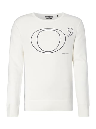 Shaped Fit Sweatshirt mit Logo-Print Weiß - 1