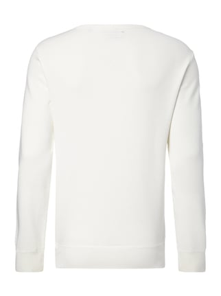 Marc O'Polo Shaped Fit Sweatshirt mit Logo-Print Offwhite - 1