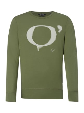Shaped Fit Sweatshirt mit Logo-Print Grün - 1