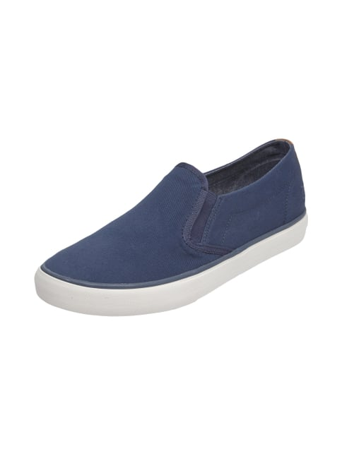Slip-On Sneaker aus Canvas Blau / Türkis - 1