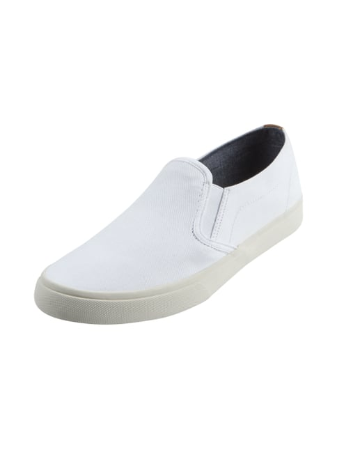 Slip-On Sneaker aus Canvas Weiß - 1