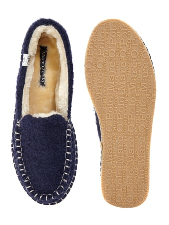 Marc O'Polo Slipper in Boucléoptik Marineblau - 1