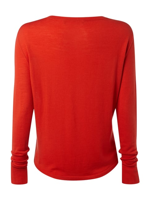 Marc O'Polo Pure Feinstrickpullover aus Schurwolle Rot - 1
