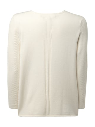 Marc O'Polo Pure Pullover mit Muster aus Rippenstrick Offwhite - 1