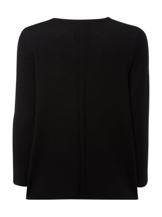 Marc O'Polo Pure Pullover mit Muster aus Rippenstrick Schwarz - 1