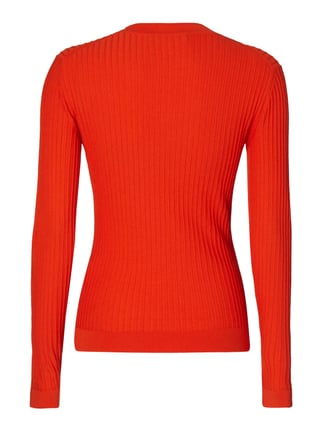Marc O'Polo Pure Pullover mit Rippenstruktur Rot - 1