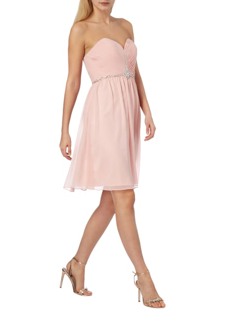 Mascara Cocktailkleid aus Chiffon in Rosé - 1