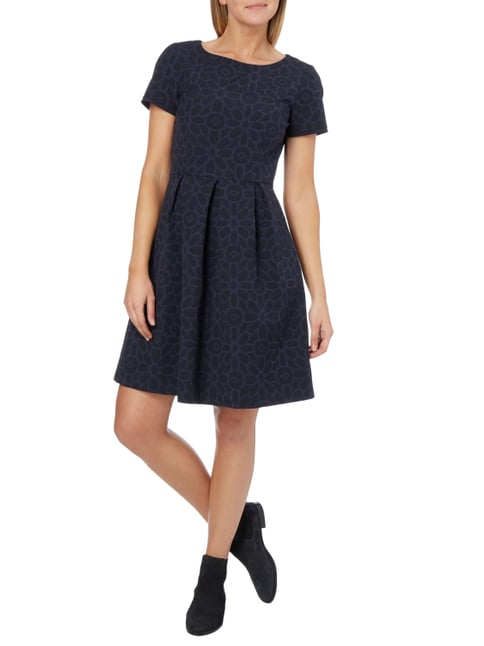 MAX&Co. Kleid mit Allover-Muster in Blau / Türkis - 1