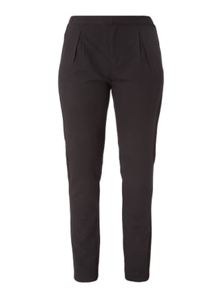 Tapered Fit Stoffhose mit Webmuster Grau / Schwarz - 1