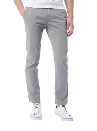 MCNEAL Regular Fit Chino mit Gürtel Hellgrau - 1