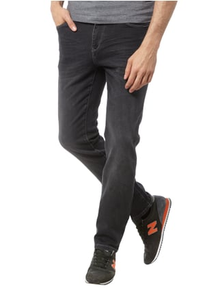 MCNEAL Slim Fit Jeans im Stone Washed-Look Schwarz - 1