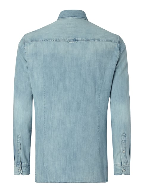MCNEAL Slim Fit Jeanshemd mit Button-Down-Kragen Himmelblau - 1