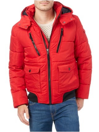 MCNEAL Steppjacke mit abnehmbarer Kapuze Rot - 1