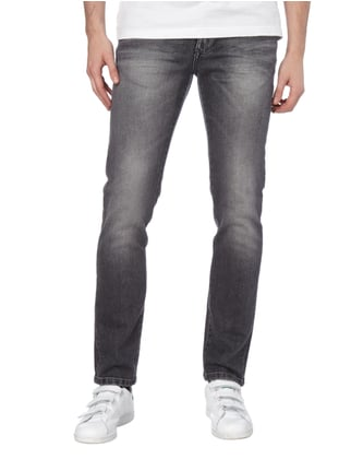 MCNEAL Stone Washed Slim Fit 5-Pocket-Jeans Mittelgrau - 1