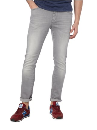 MCNEAL Stone Washed Slim Fit Jeans Hellgrau - 1