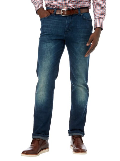 MCNEAL Stone Washed Slim Fit Jeans mit Stretch-Anteil Jeans - 1