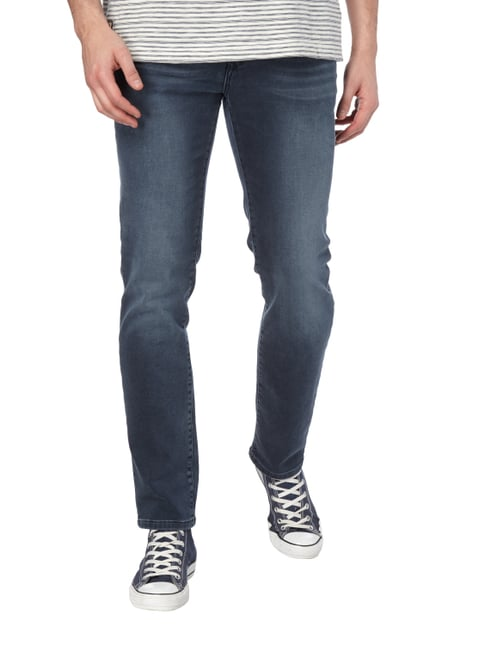 MCNEAL Stone Washed Slim Fit Jeans Rauchblau - 1