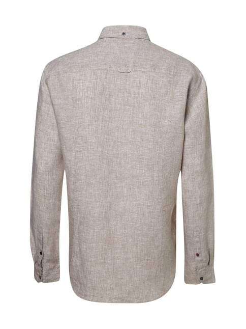 MCNEAL Tailored Fit Freizeithemd aus reinem Leinen Taupe - 1