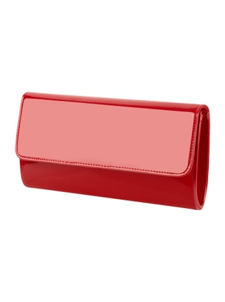 Pochette in Lacklederoptik Rot - 1