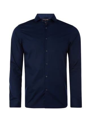Slim Fit Hemd mit Stretch-Anteil Blau / Türkis - 1