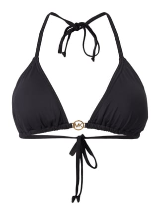 Bikini-Oberteil in Triangel-Form Grau / Schwarz - 1