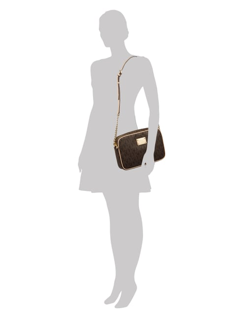 MICHAEL Michael Kors Crossbody Bag mit Logo-Muster in Braun - 1