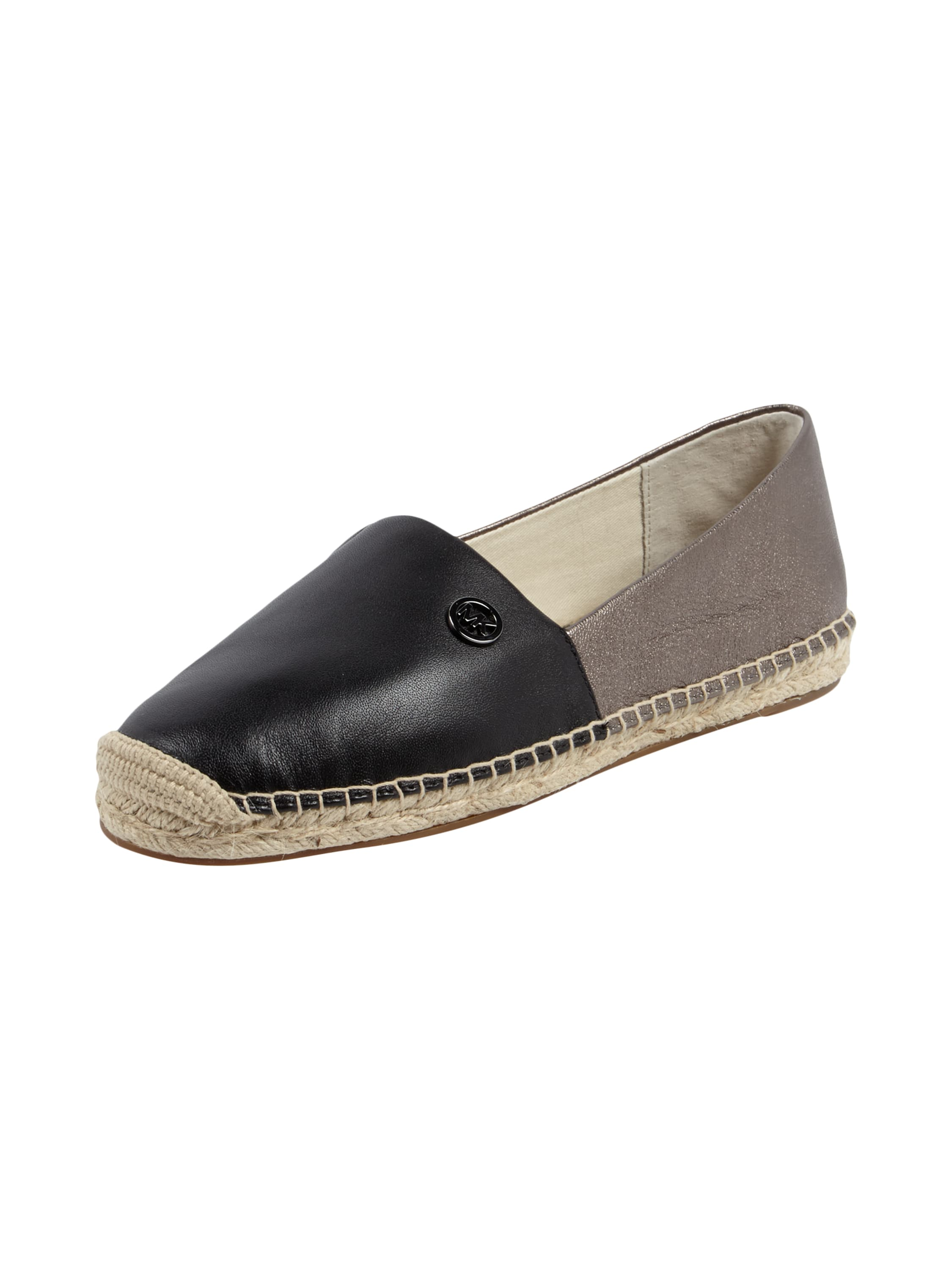 michael michael kors espadrilles aus leder in grau schwarz online kaufen 9365948 p c at. Black Bedroom Furniture Sets. Home Design Ideas