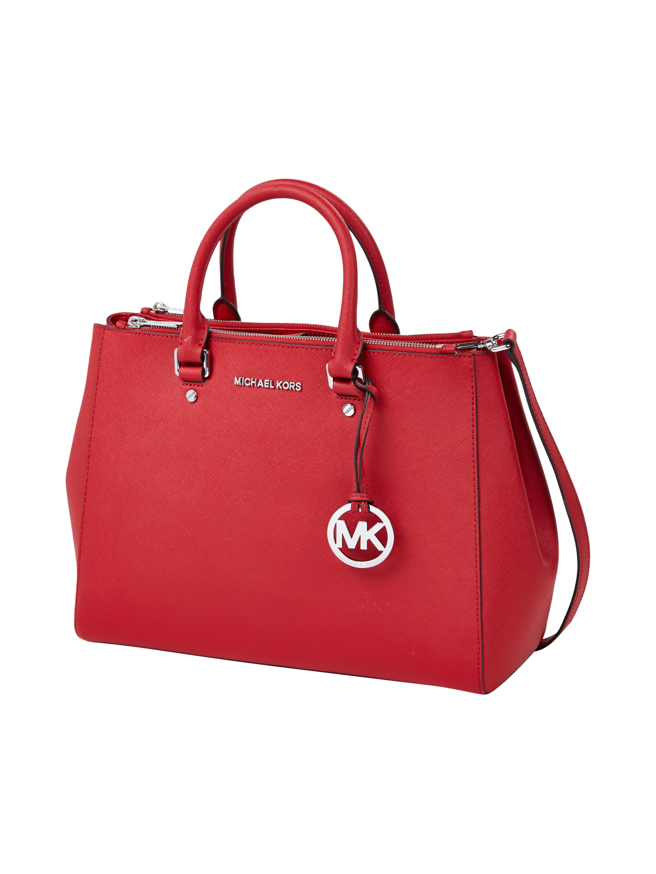 michael michael kors handtasche aus leder in rot online kaufen 9270279 p c online shop. Black Bedroom Furniture Sets. Home Design Ideas