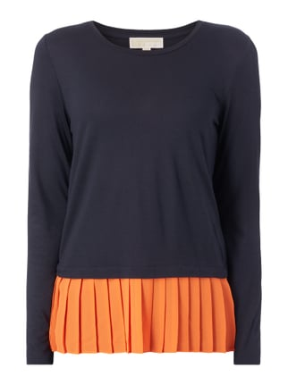 Longsleeve mit Saum im Double-Layer-Look Orange - 1