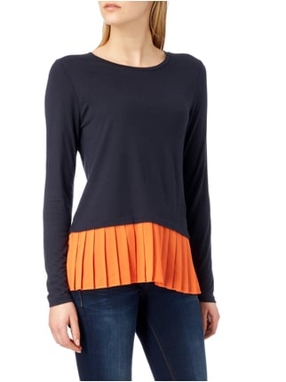 MICHAEL Michael Kors Longsleeve mit Saum im Double-Layer-Look Orange - 1