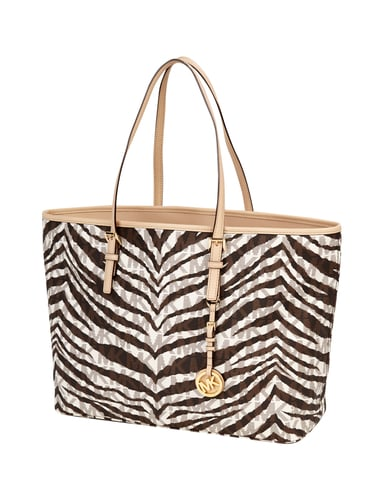 michael kors medium tote in tigeroptik logo shopper mit. Black Bedroom Furniture Sets. Home Design Ideas
