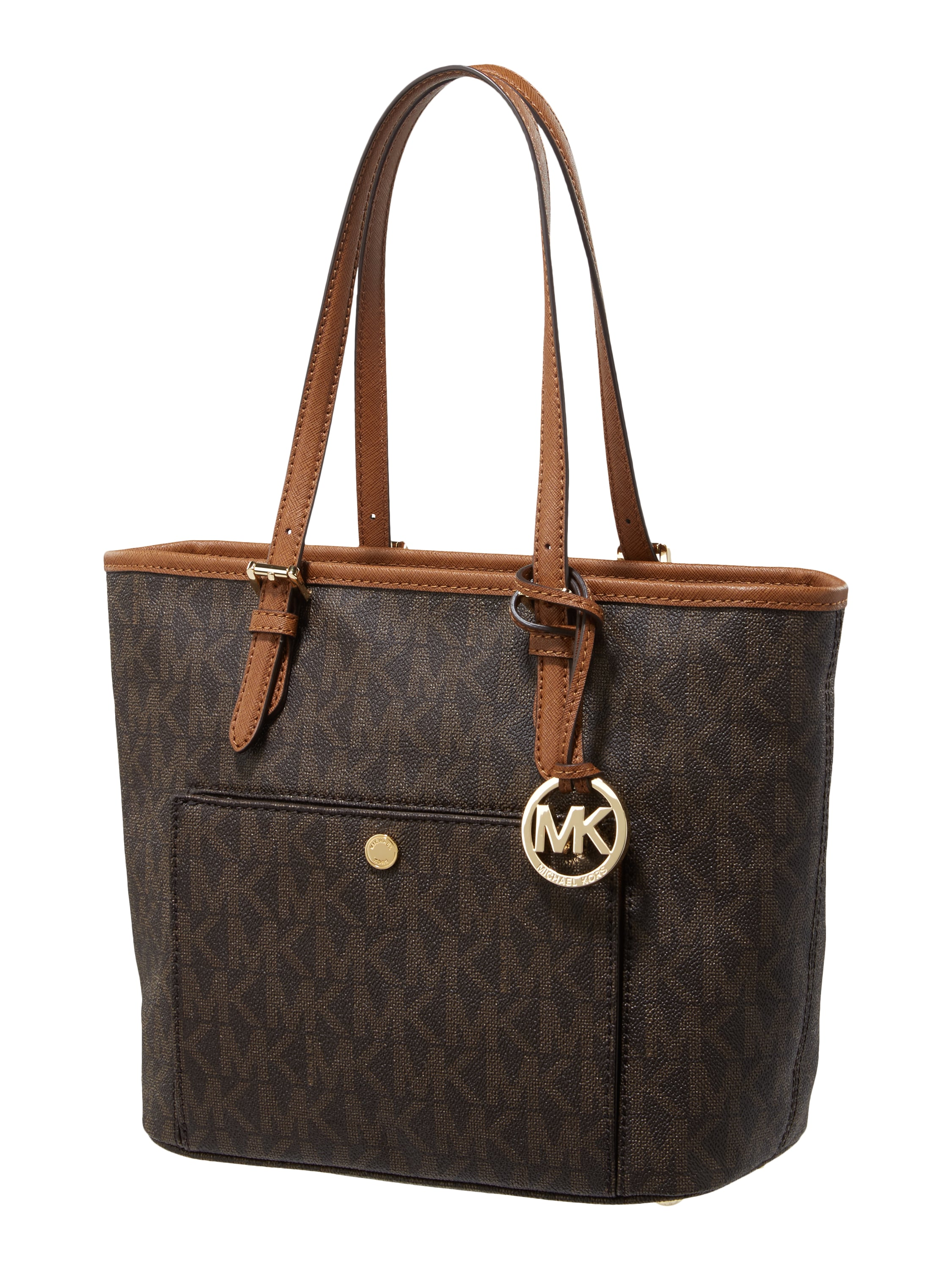 michael michael kors shopper mit logo muster in braun. Black Bedroom Furniture Sets. Home Design Ideas