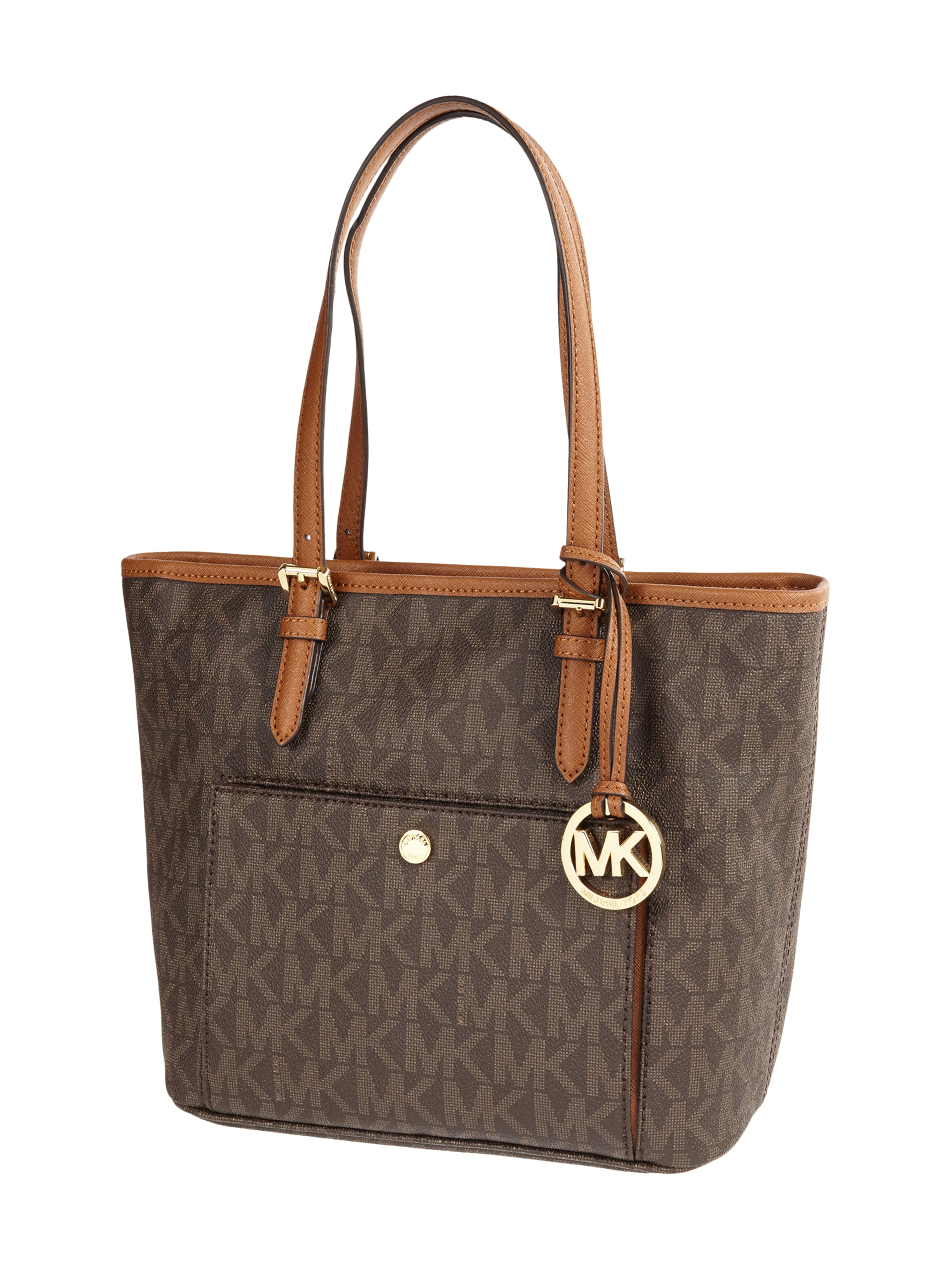 michael michael kors shopper mit logo muster in braun online kaufen 9532994 p c online shop. Black Bedroom Furniture Sets. Home Design Ideas