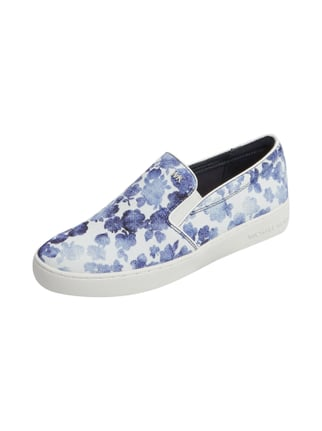 Slip On Sneaker mit Allover-Muster Blau / Türkis - 1