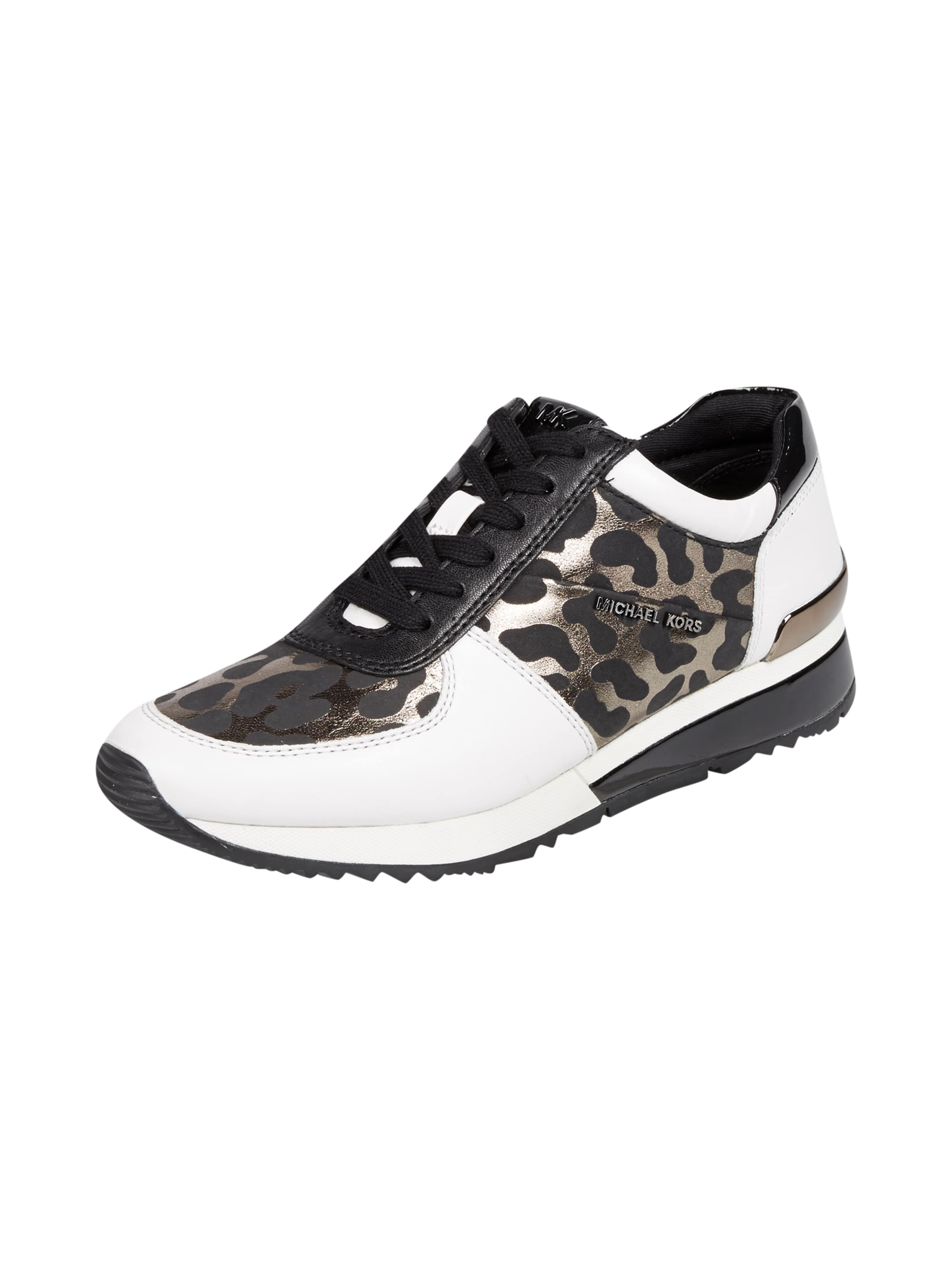 michael michael kors sneaker aus leder mit leopardenmuster in wei online kaufen 9514644 p c. Black Bedroom Furniture Sets. Home Design Ideas