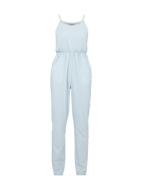 Jumpsuit mit tiefen Armlöchern in Wickel-Optik Blau / Türkis - 1