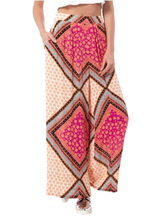 Minkpink Palazzo-Hose mit Allover-Muster Pink - 1