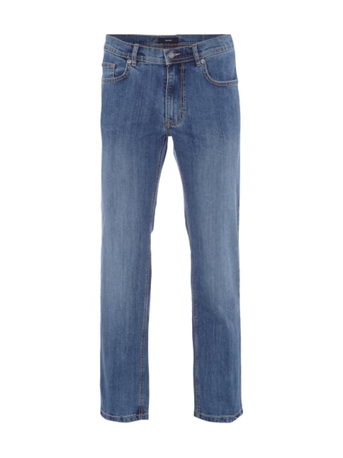 5-Pocket-Jeans mit Stretch-Anteil Blau / Türkis - 1