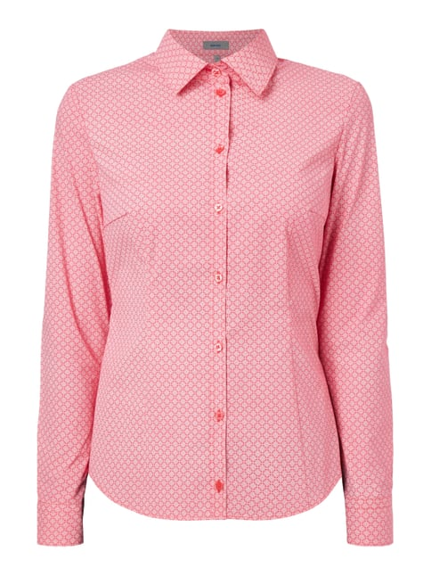 Bluse mit Allover-Muster Rosé - 1