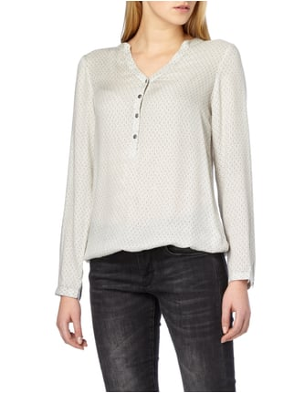 Montego Blusenshirt mit Allover-Muster Offwhite - 1