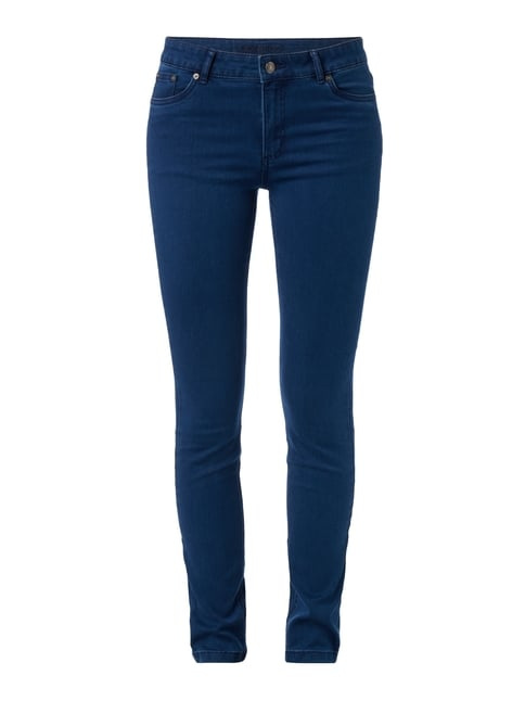 Coloured Skinny Fit 5-Pocket-Jeans Blau / Türkis - 1