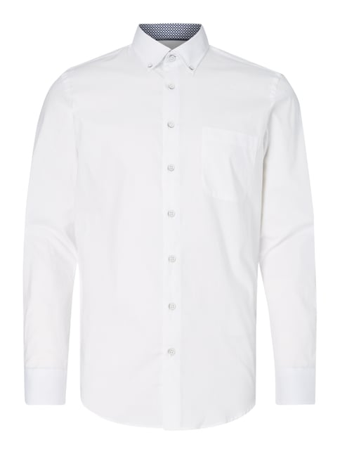 Modern Fit Business-Hemd mit Button-Down-Kragen Weiß - 1